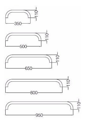 barral ferrum espacio accesorio fijo recto 35cm blanco vefr3