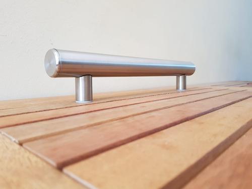 barral manijon acero inoxidable diam.50 mm - largo 1.50 mts