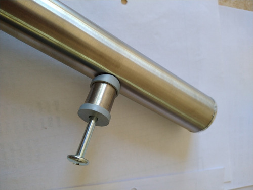 barral manijon de acero inoxidable para puerta de 50cm