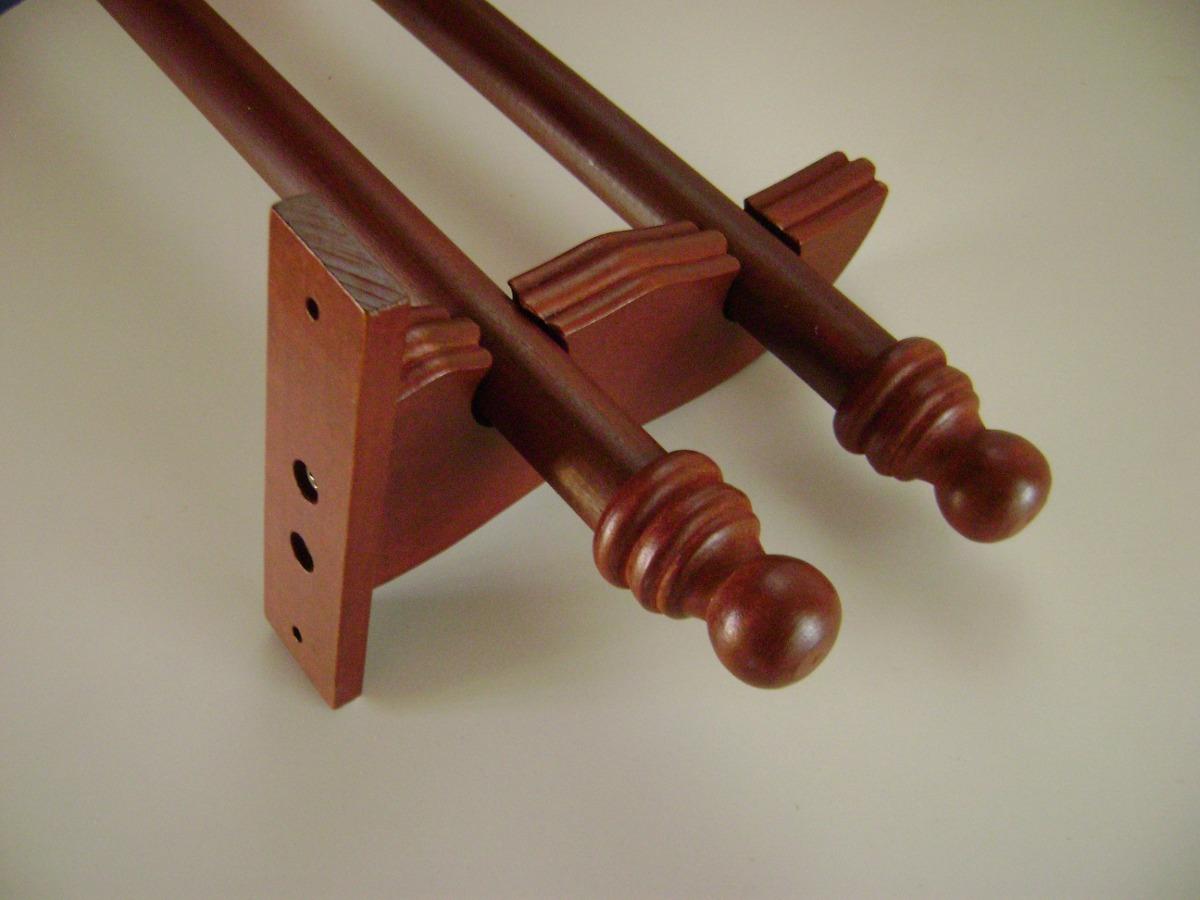 Barral soportes dobles c 3 soportes y terminales de 3 00 - Soportes adhesivos para cortinas ...
