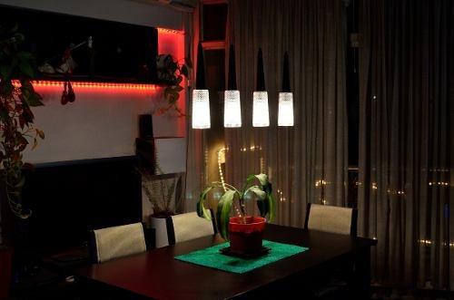 barral techo moderno colgante diseño  4 luces led inlcuidas