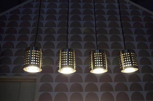 barral techo moderno techo 4 luces acero inoxidable