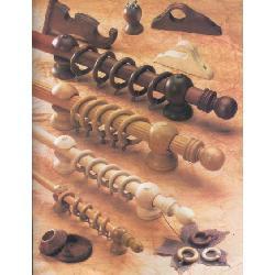 barrales de madera 14 mm maciza en color cedro
