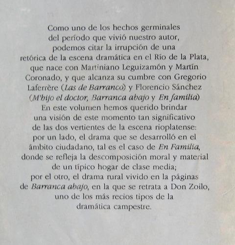barranca abajo, florencio sánchez, ed. nuevo siglo