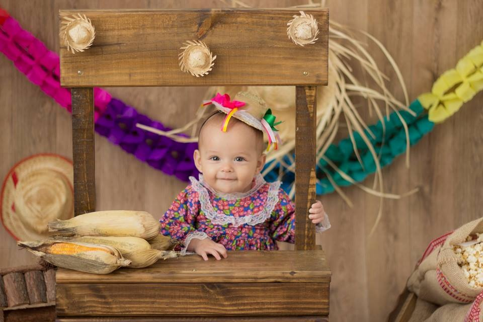 Barraquinha Festa Junina Cenário Fotográfico Bebê Criança R 179