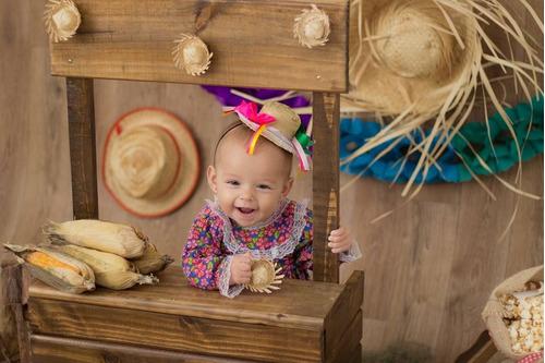 barraquinha junina cenário foto acompanhamento bebê criança