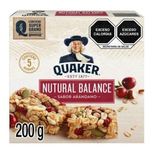 barras de avena quaker nutural balance sabor arándano 5 pzas