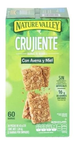 barras de granola nature valley crunchy 60 piezas