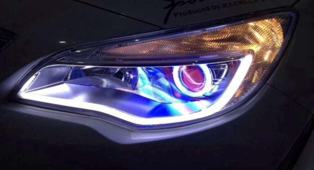 barras de led tiras flexibles drl luz de dia angel eyes