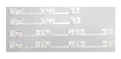 barras de led tv semp tv led 32l2400 kit com 4 pçs (konka)