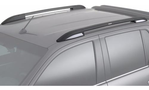 barras de techo longitudinal aluminio negra bepo p/ amarok