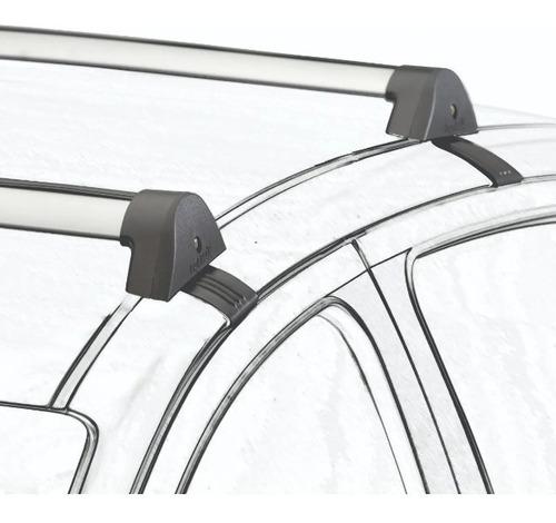 barras de techo volkswagen gol g2 2 puertas aluminio negras