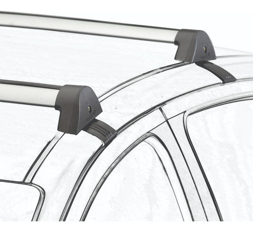 barras de techo volkswagen gol g3 aluminio grisplata