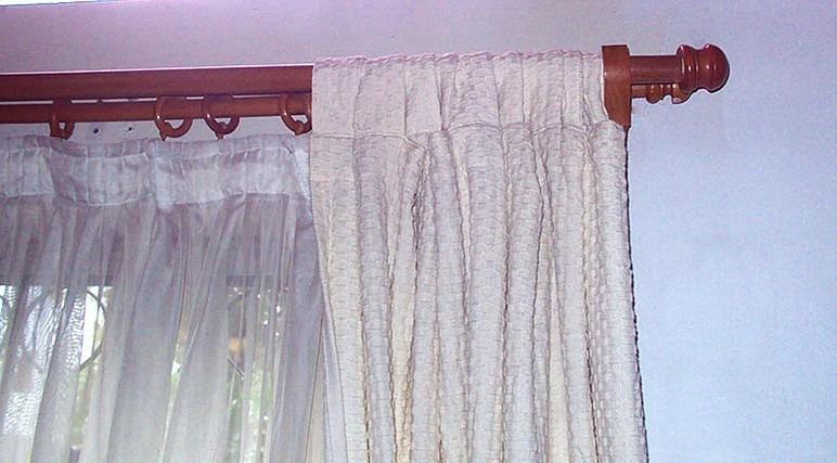 Barras en madera para cortinas en set en mercado - Barras de cortinas de madera ...