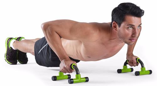 barras fijas para ejercicio body fit bf-pub026 gris/verde
