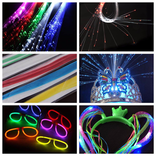 barras goma espuma luminosa led rompecocos multicolor