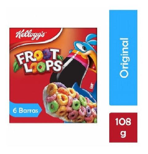 barras kellogg's froot loops 6 pzas de 18 g c/u