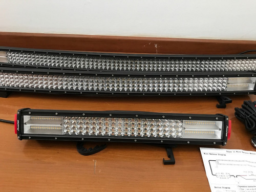 barras led 10d duales(blanco/amarillo/estrobo) envió provinc