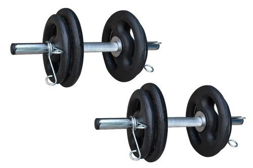 barras musculação kit anilhas