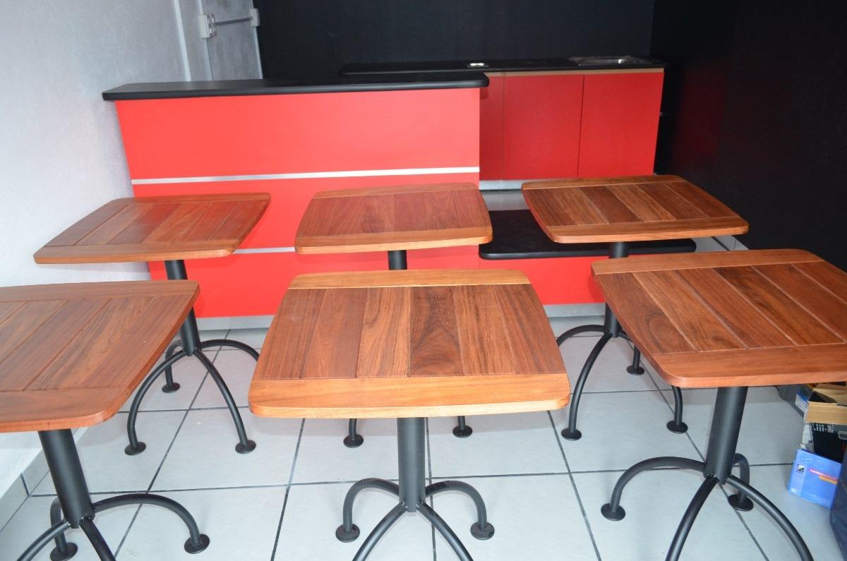 Barras para cafeteria y crepas mesas fabricamos s pedido for Mesas de cafeteria
