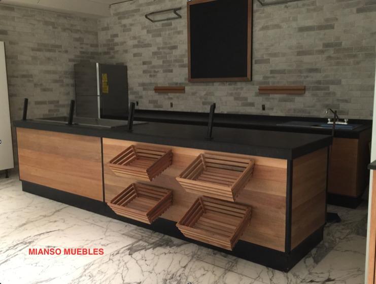 Barras para restaurantes bares 9 en mercado libre - Barra de bar madera ...