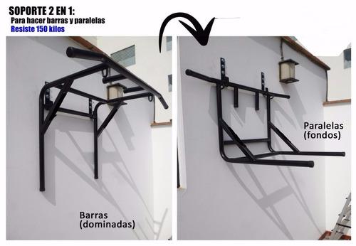 barras  paralelas dominadas para empotrar en la pared