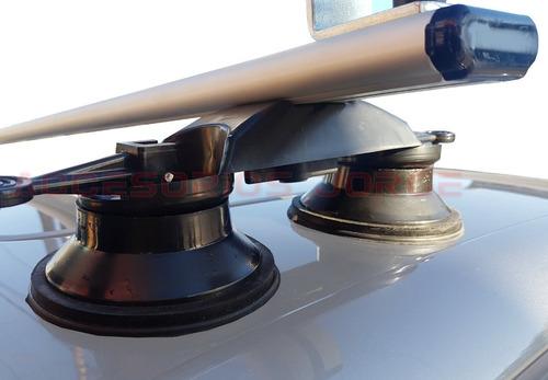 barras porta equipaje aluminio ventosa hilux 2018 s10 2012+