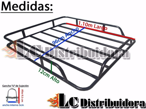 barras porta equipaje fiat palio nuevo + parrilla canasto