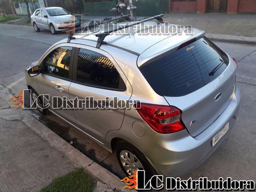 barras porta equipaje ford ka + mod nuevo + parrilla canasto