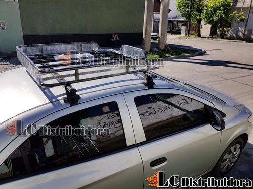 barras porta equipaje prisma onix m/nuevo + parrilla canasto