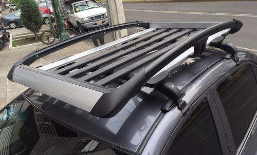 barras portaequipaje universales rack aluminio con ganchos