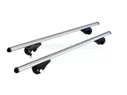 barras portaequipajes aluminio p/ vehiculos barras lat 1.20m