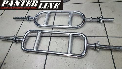 barras romana  cromada acero solido con seguros 90cmts largo