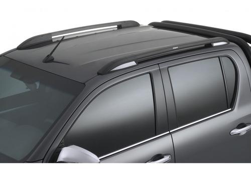 barras techo longitudinal negras bepo adhesivas p hilux 2019