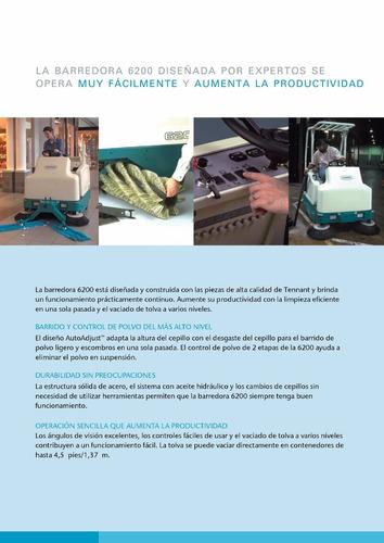 barredora eléctrica tennant 6200