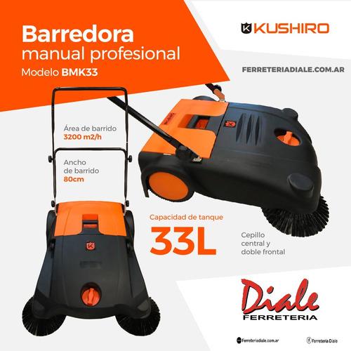 barredora industrial manual kushiro 33 lt  4 cepillos