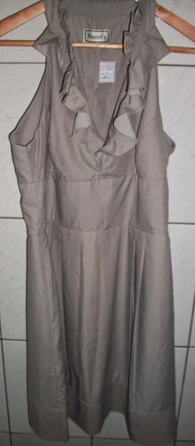 barred´s - vestido beje - 42