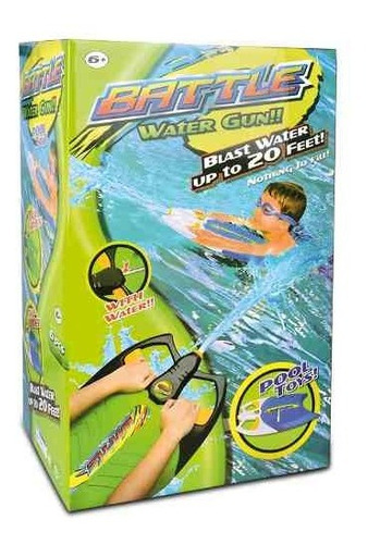 barrenador con pistola lanza agua battle water gun