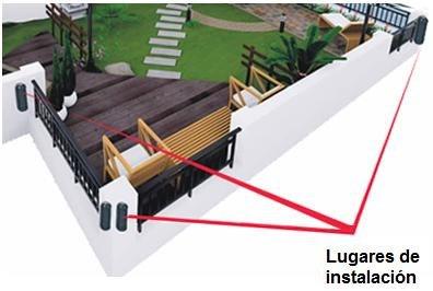 barrera infrarroja 40m sensor perimetral alarma seguridad