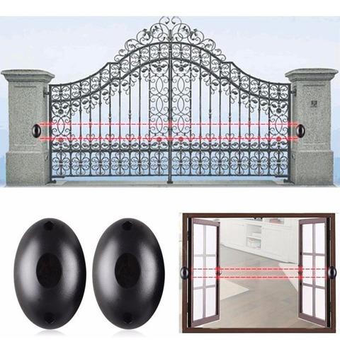barrera infrarroja exterior portón alarma semáforos led