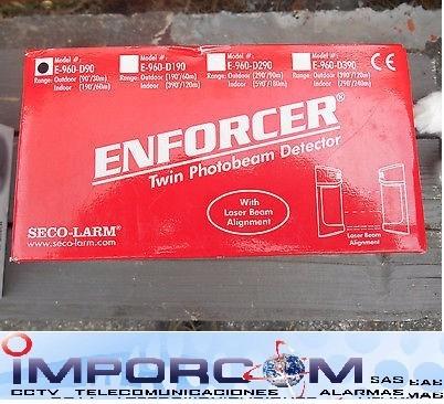 barrera perimetral foto electrica enforcer 30mts seco-larm