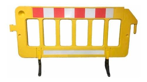 barrera plastica de seguridad largo 1,95xaltura 1mt amarillo