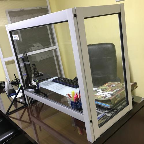 barrera sanitaria mostrador protector  tipo box 100x60+30x60
