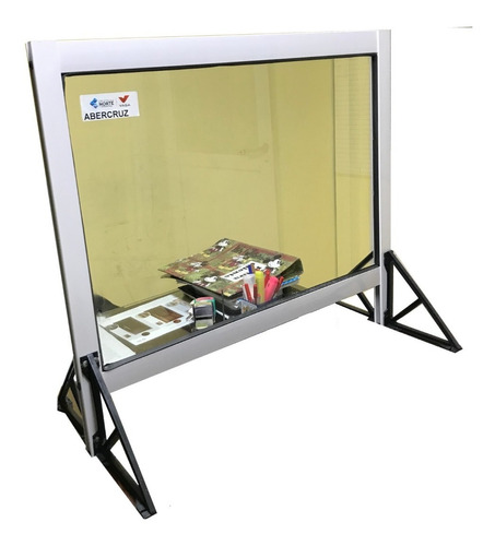 barrera sanitaria protector tipo box 100x60+30x60 mostrador