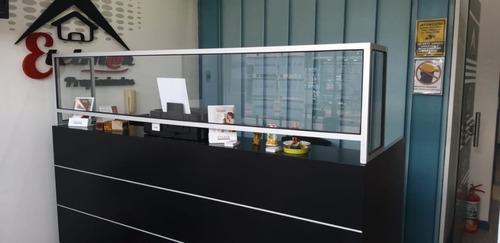 barrera sanitaria protector tipo box  80x60+30x60 mostrador