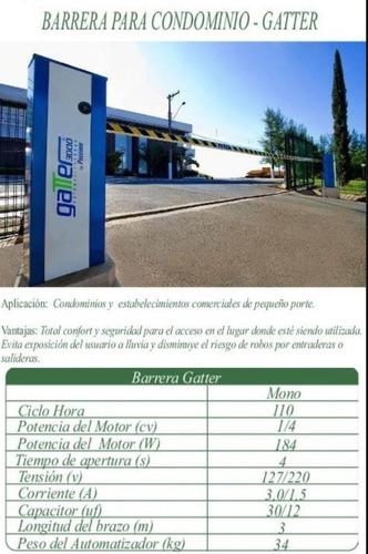 barrera vehicular automática gatter - peccinin  3 mts.