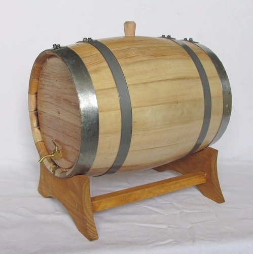 barrica de roble 10 l para añejar whiskey, ron, vacia.