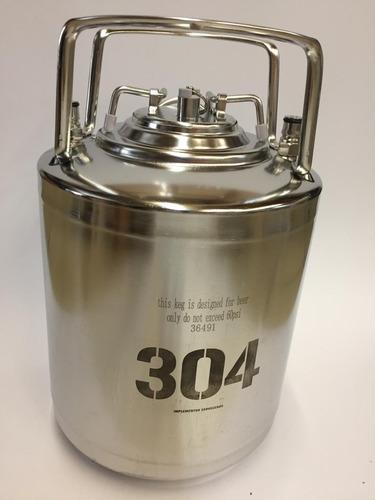 barril cerveza artesanal corni 6 lts 304 acero inoxidable