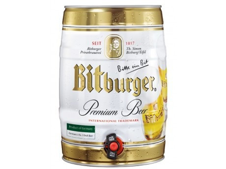 barril cerveza bitburger 5 litros - cerveza alemana