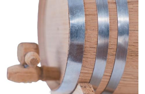 barril de roble para 2 litros con aros glv, personalizado.